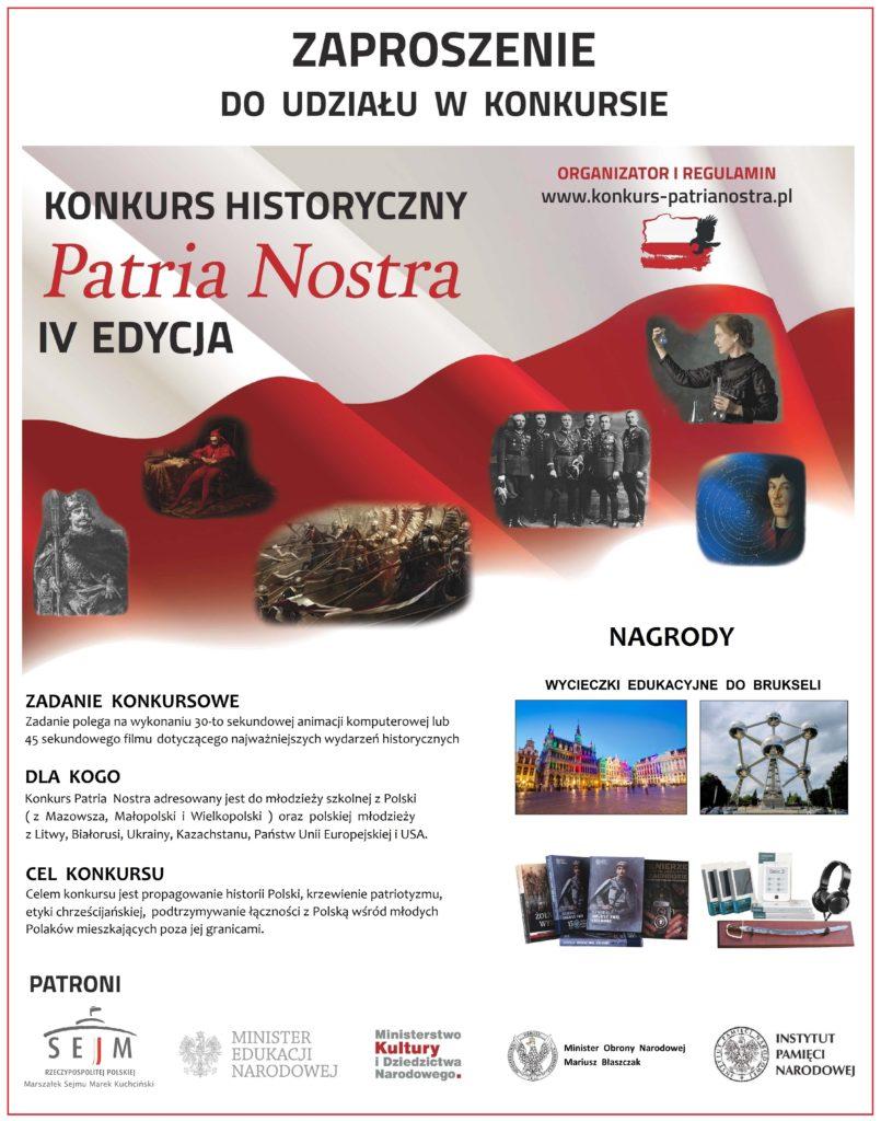 ZAPROSZENIE --- do IV edycji konkursu PN --- polska --- _graficzne